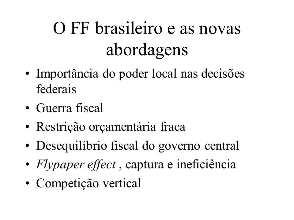 O FF brasileiro e as novas abordagens