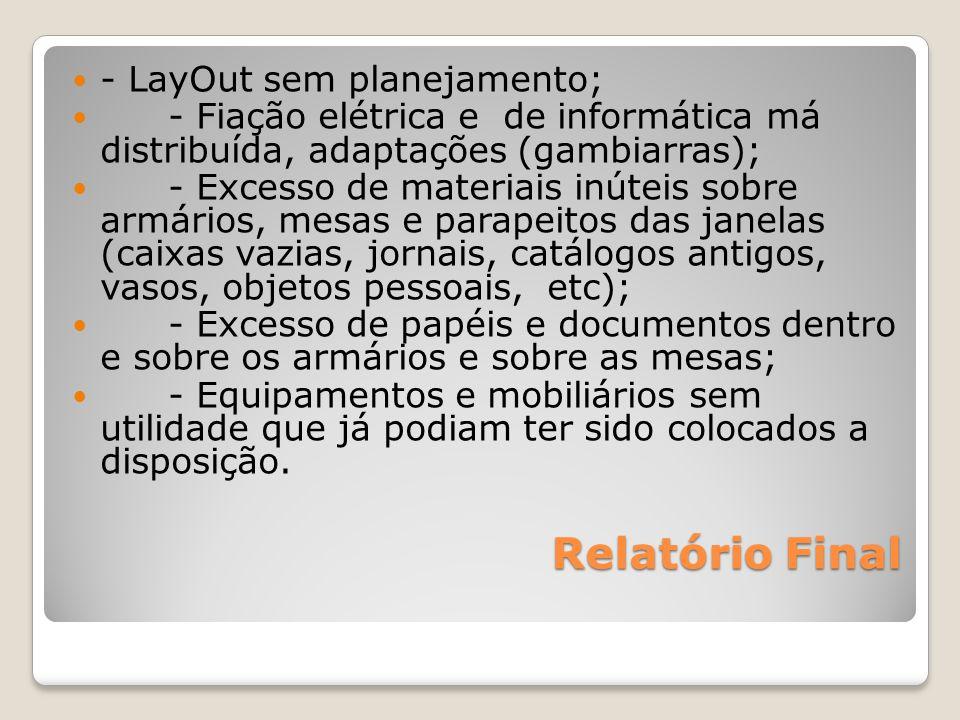 Relatório Final - LayOut sem planejamento;