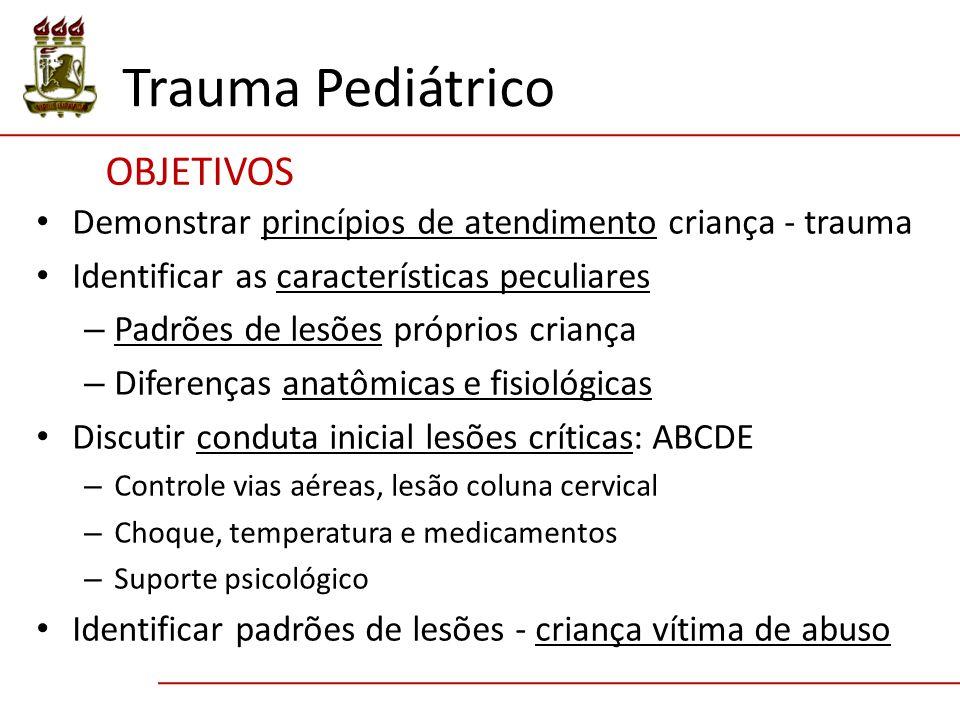 Trauma Pediátrico ObjetivoS