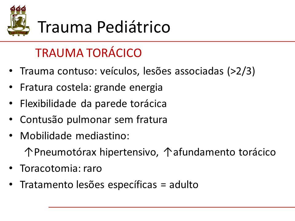 Trauma Pediátrico TRAUMA TORÁCICO