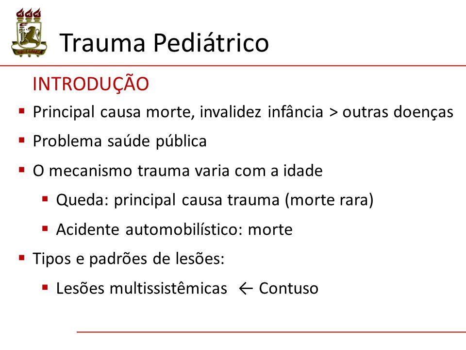 Trauma Pediátrico INTRODUÇÃO
