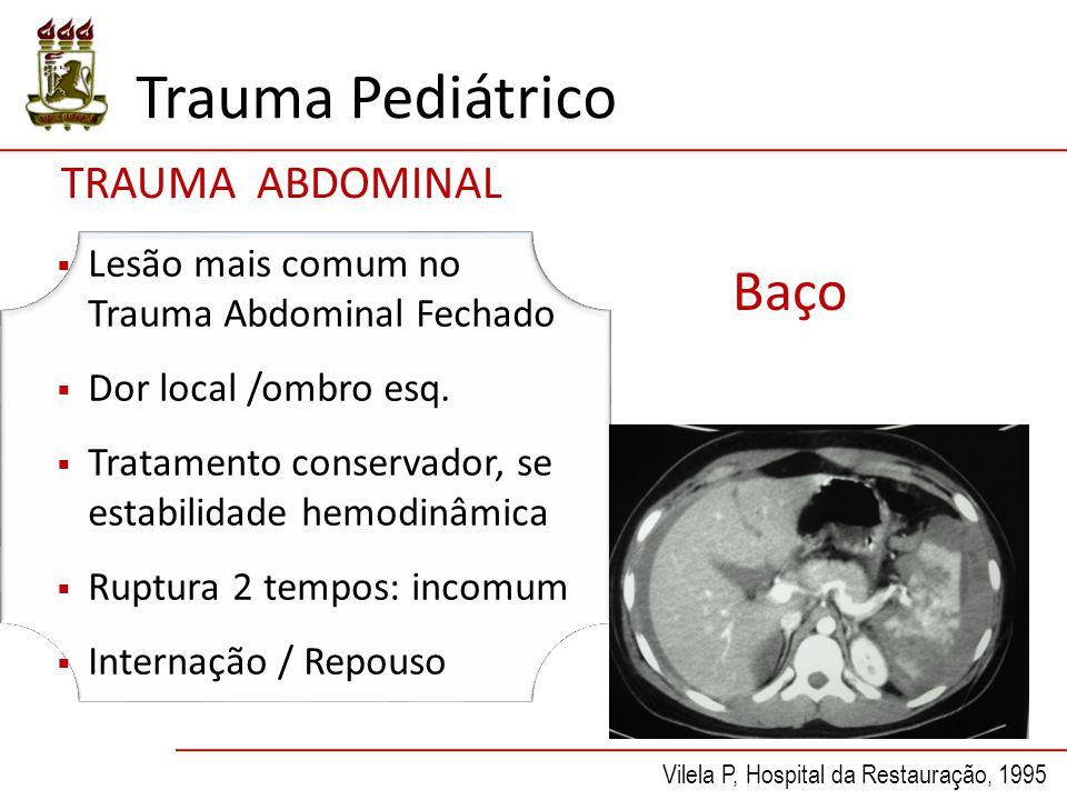 Trauma Pediátrico Baço TRAUMA ABDOMINAL