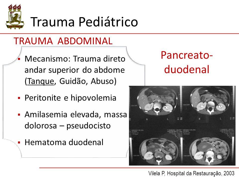 Trauma Pediátrico Pancreato-duodenal TRAUMA ABDOMINAL