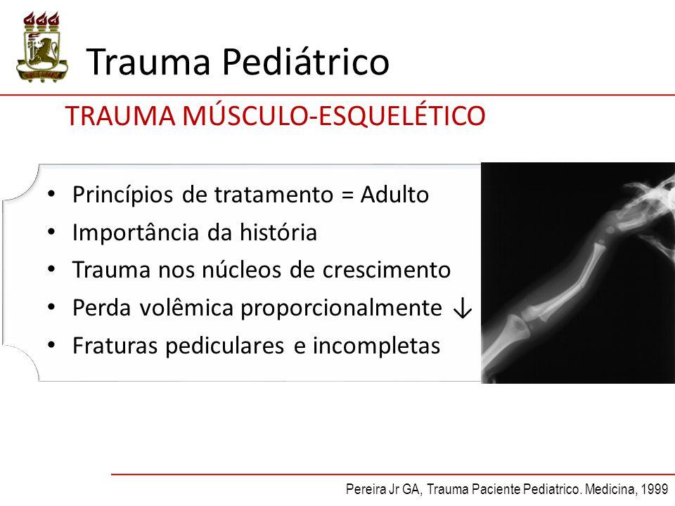 Trauma Pediátrico TRAUMA MÚSCULO-ESQUELÉTICO