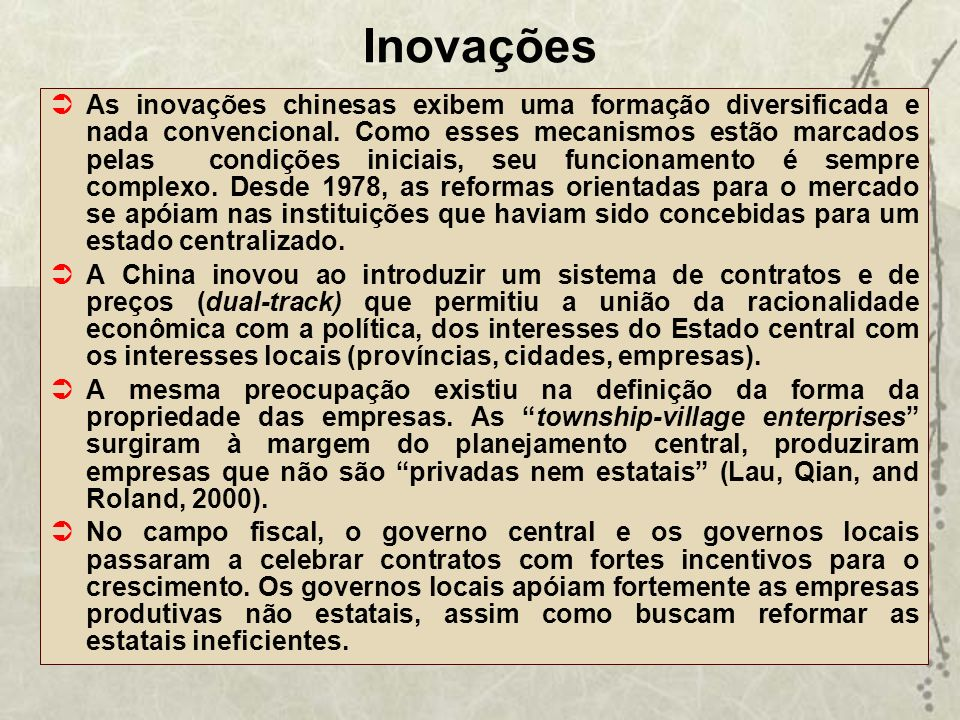 Inovações