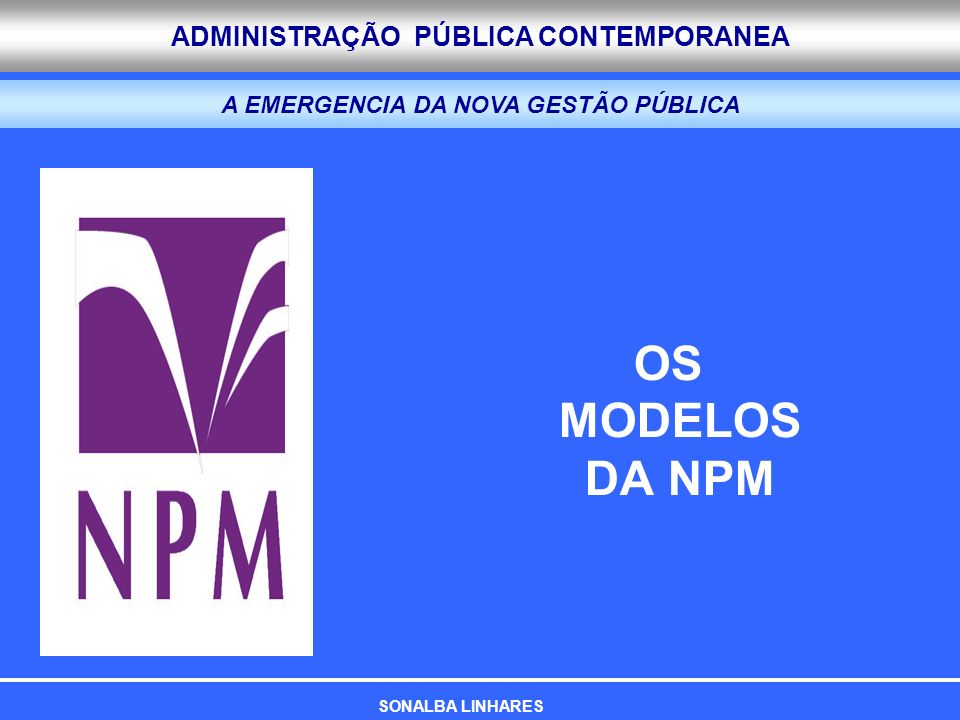 A EMERGENCIA DA NOVA GESTÃO PÚBLICA
