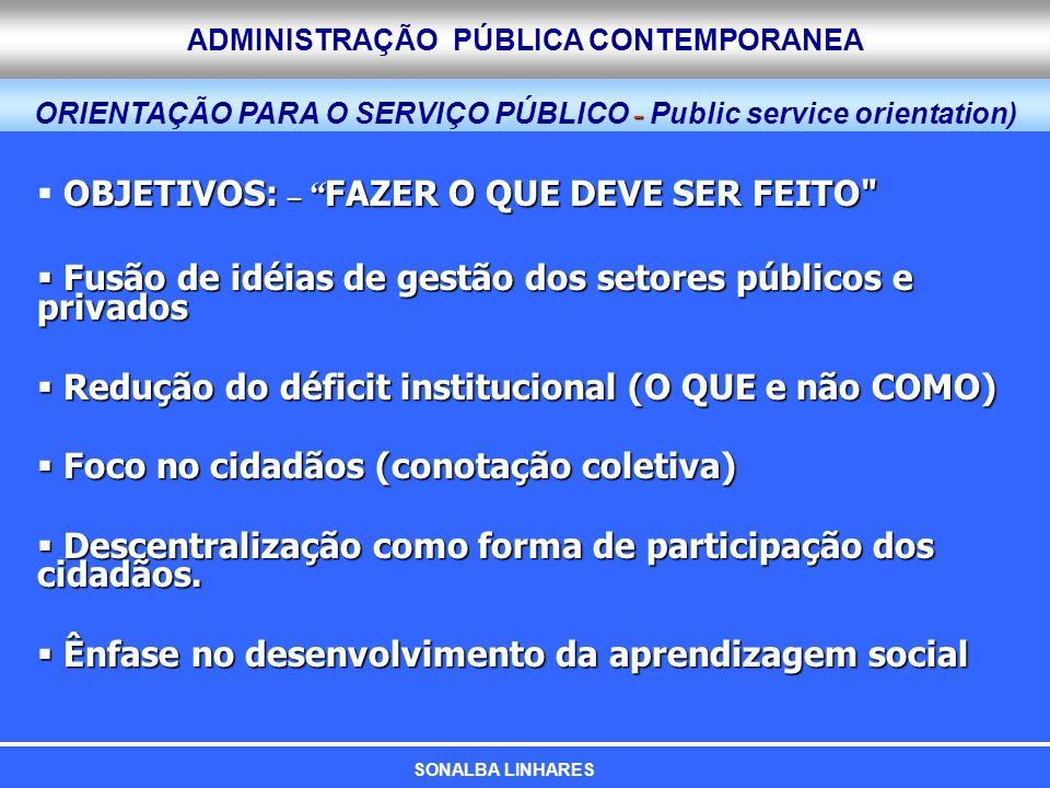 ORIENTAÇÃO PARA O SERVIÇO PÚBLICO - Public service orientation)