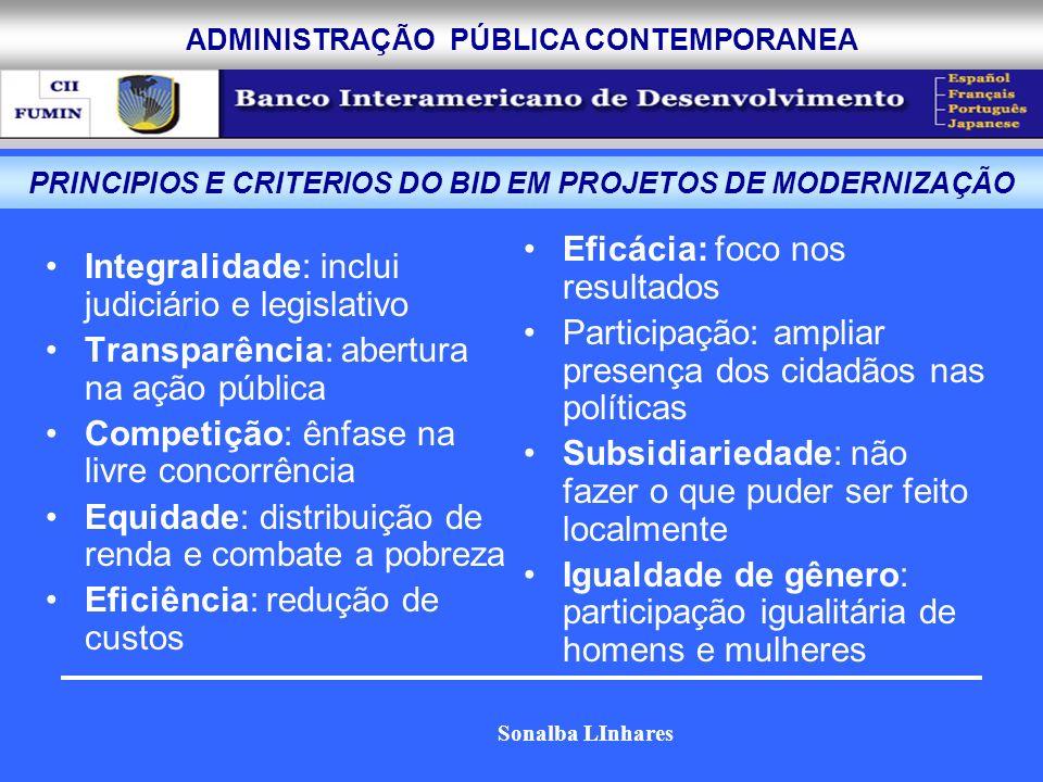 PRINCIPIOS E CRITERIOS DO BID EM PROJETOS DE MODERNIZAÇÃO