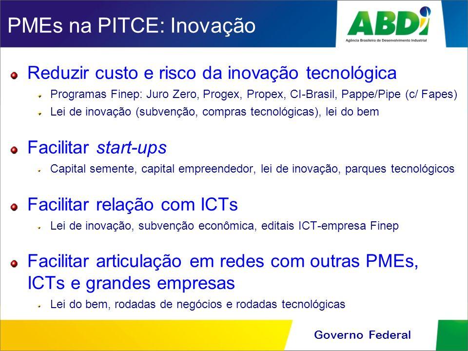 PMEs na PITCE: Inovação