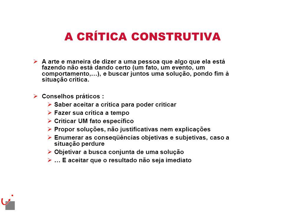 A CRÍTICA CONSTRUTIVA