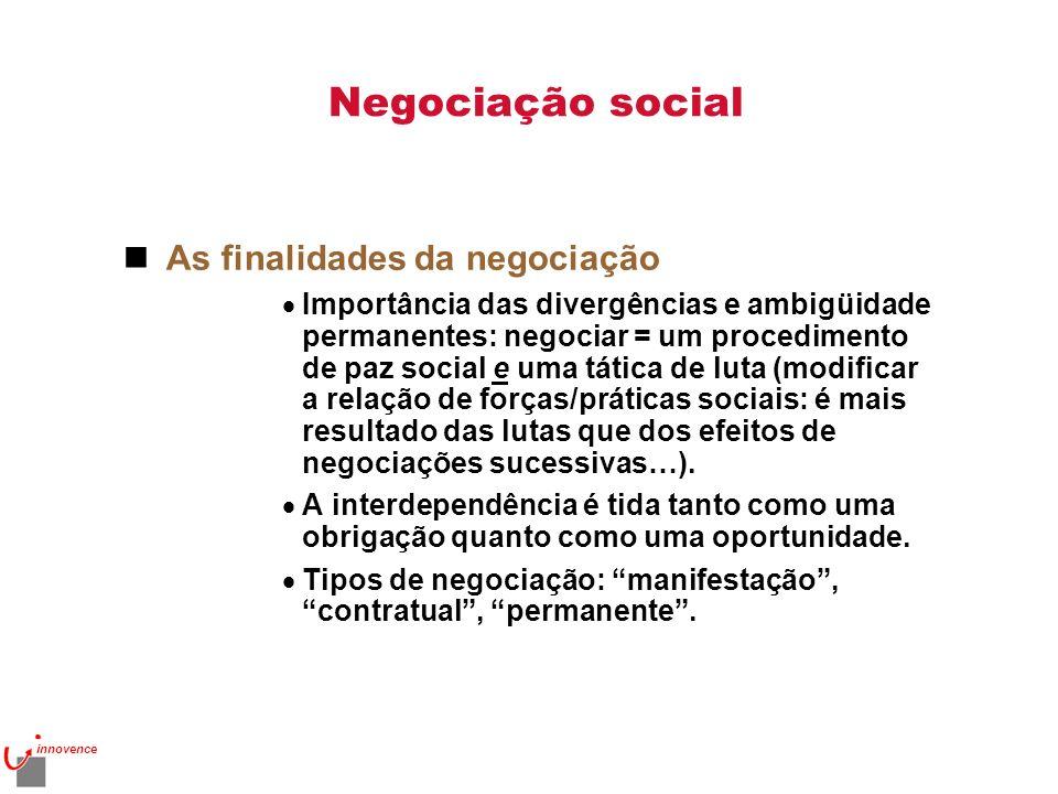 Negociação social As finalidades da negociação