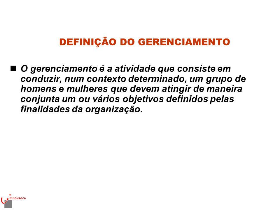 DEFINIÇÃO DO GERENCIAMENTO