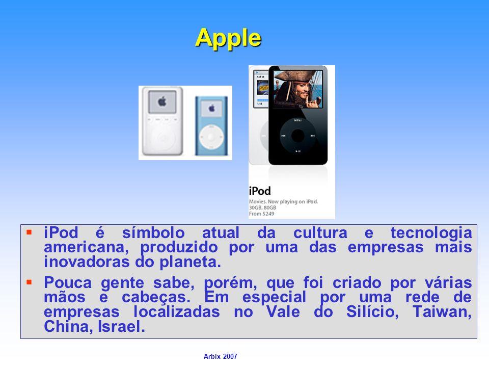 Apple iPod é símbolo atual da cultura e tecnologia americana, produzido por uma das empresas mais inovadoras do planeta.
