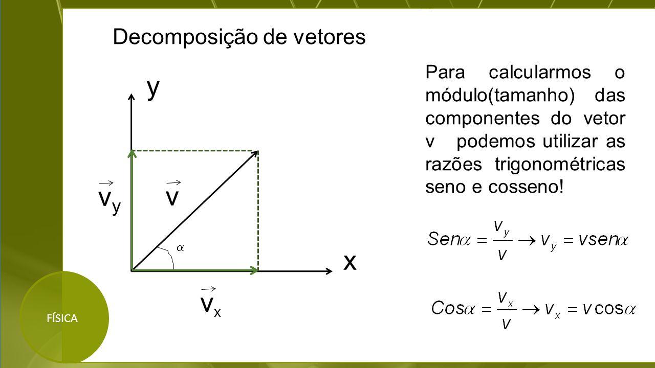 y vy v x vx Decomposição de vetores