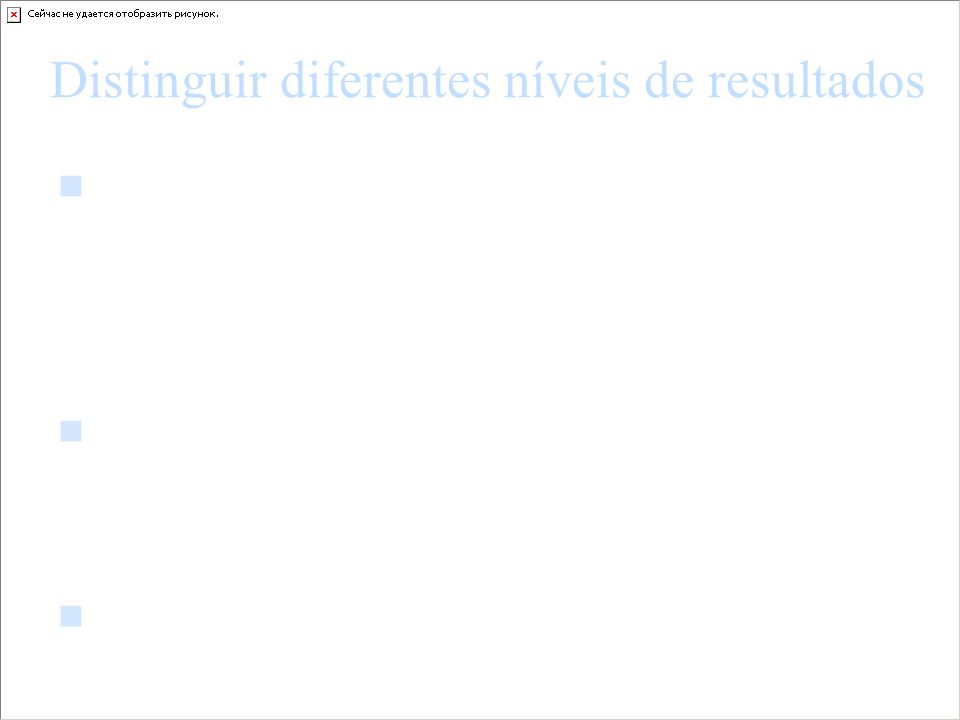 Distinguir diferentes níveis de resultados