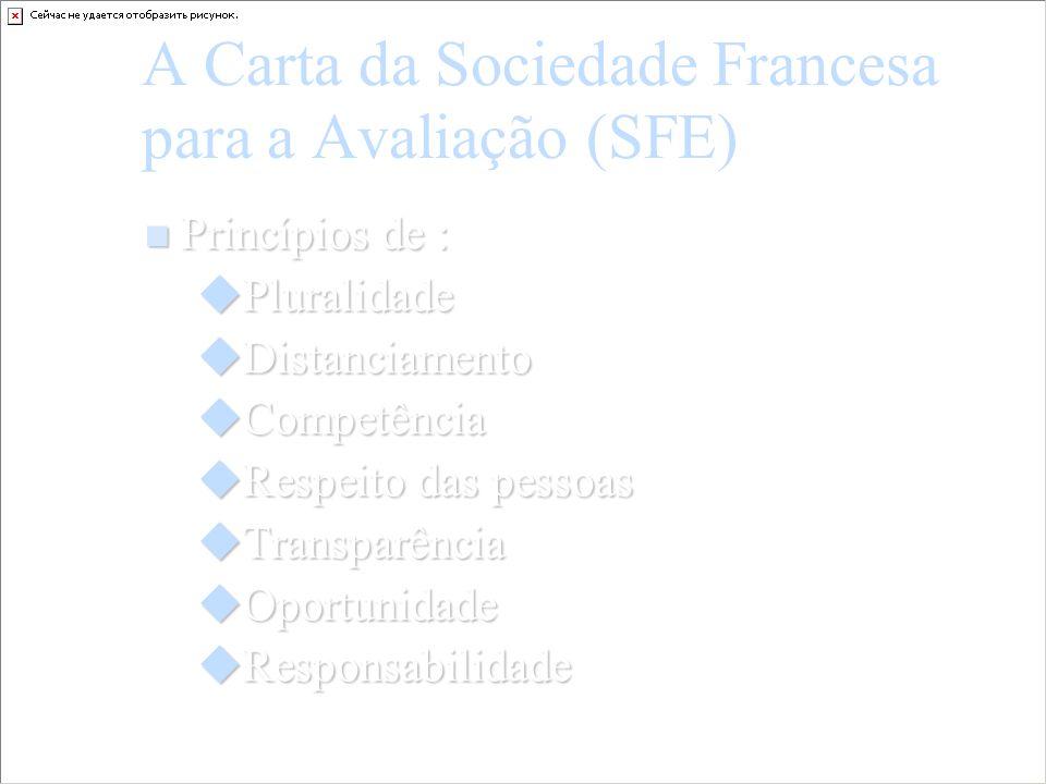 A Carta da Sociedade Francesa para a Avaliação (SFE)
