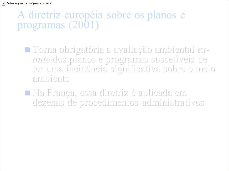 A diretriz européia sobre os planos e programas (2001)