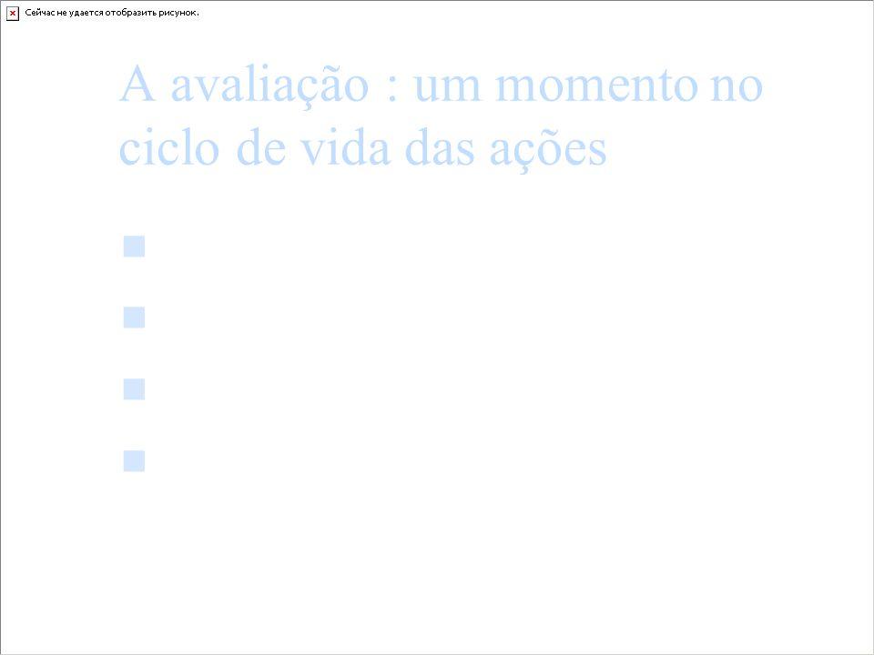 A avaliação : um momento no ciclo de vida das ações