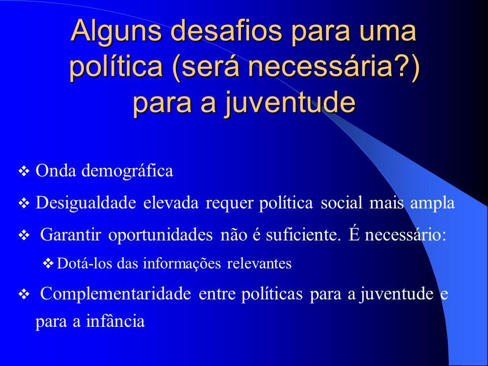 Alguns desafios para uma política (será necessária ) para a juventude