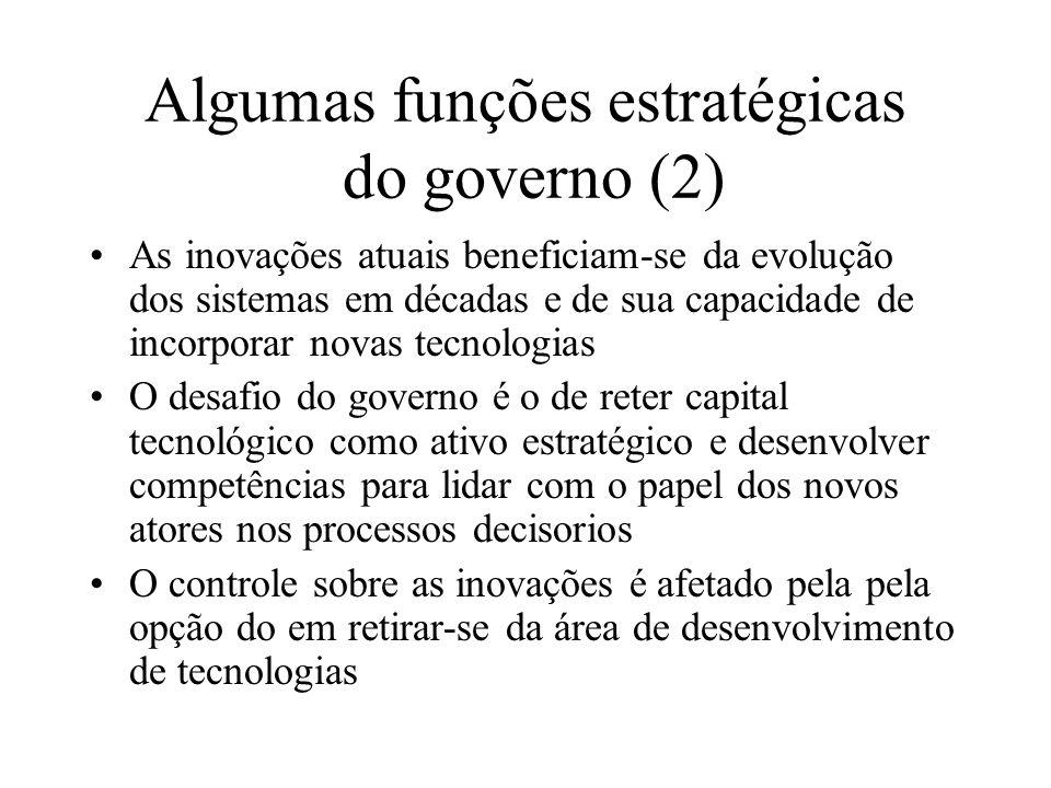 Algumas funções estratégicas do governo (2)