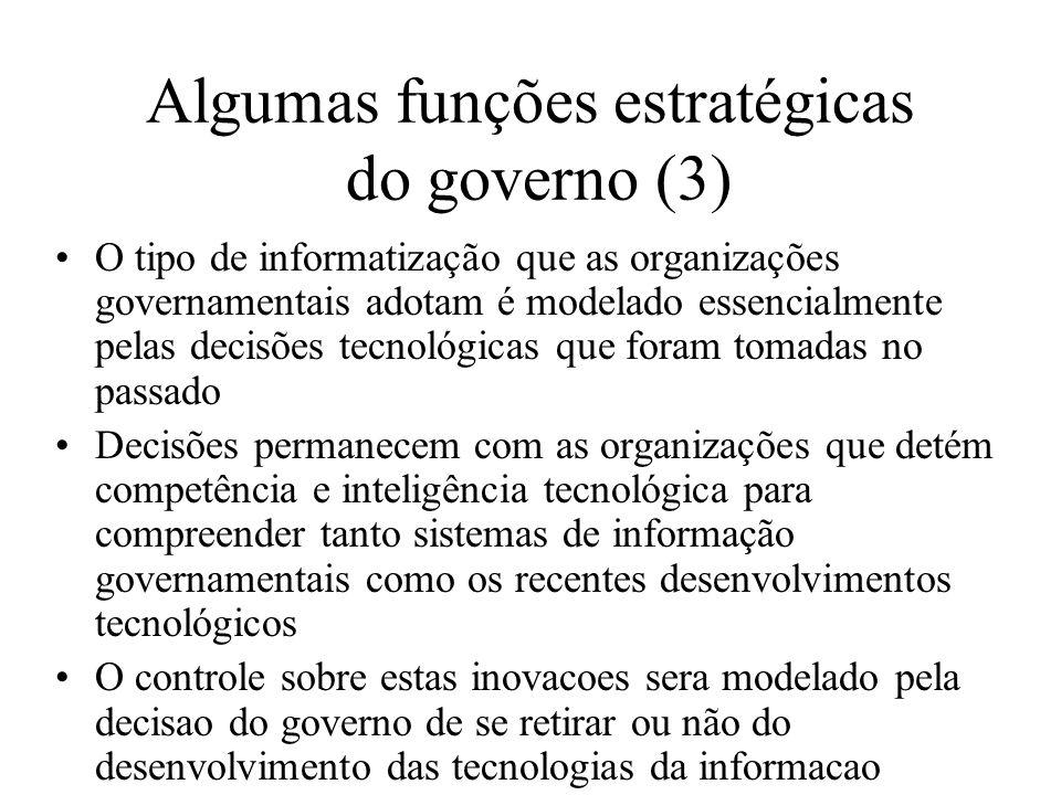 Algumas funções estratégicas do governo (3)