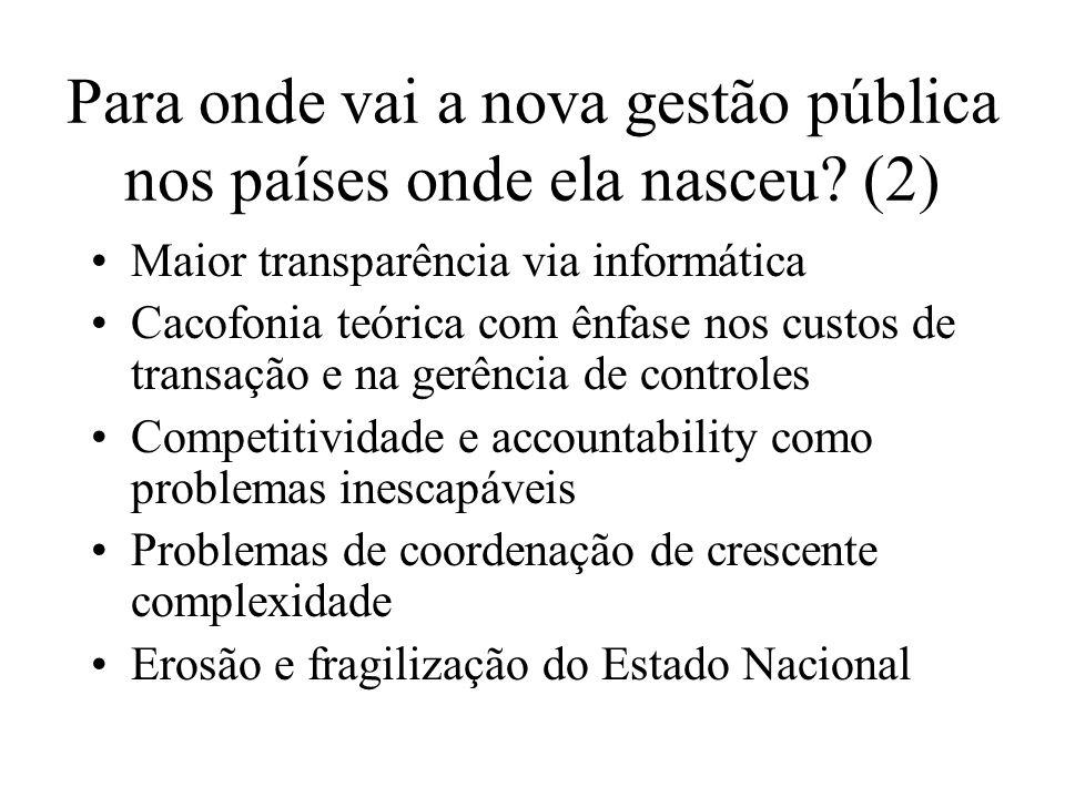 Para onde vai a nova gestão pública nos países onde ela nasceu (2)