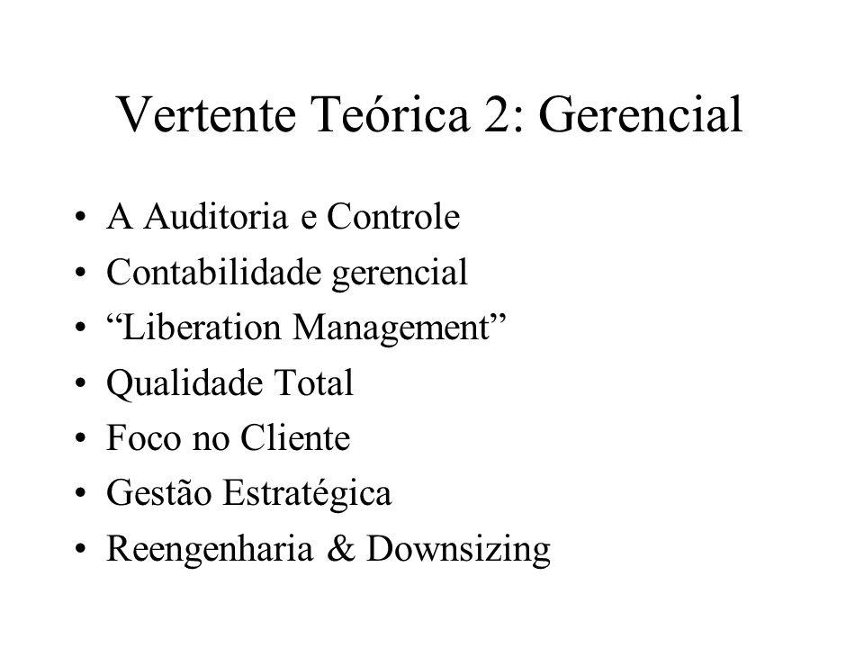 Vertente Teórica 2: Gerencial