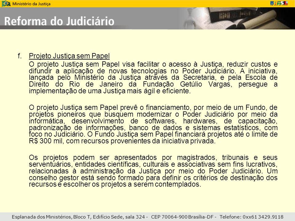 Projeto Justiça sem Papel