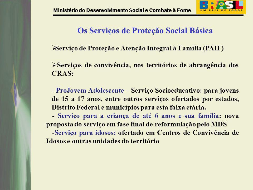 Os Serviços de Proteção Social Básica