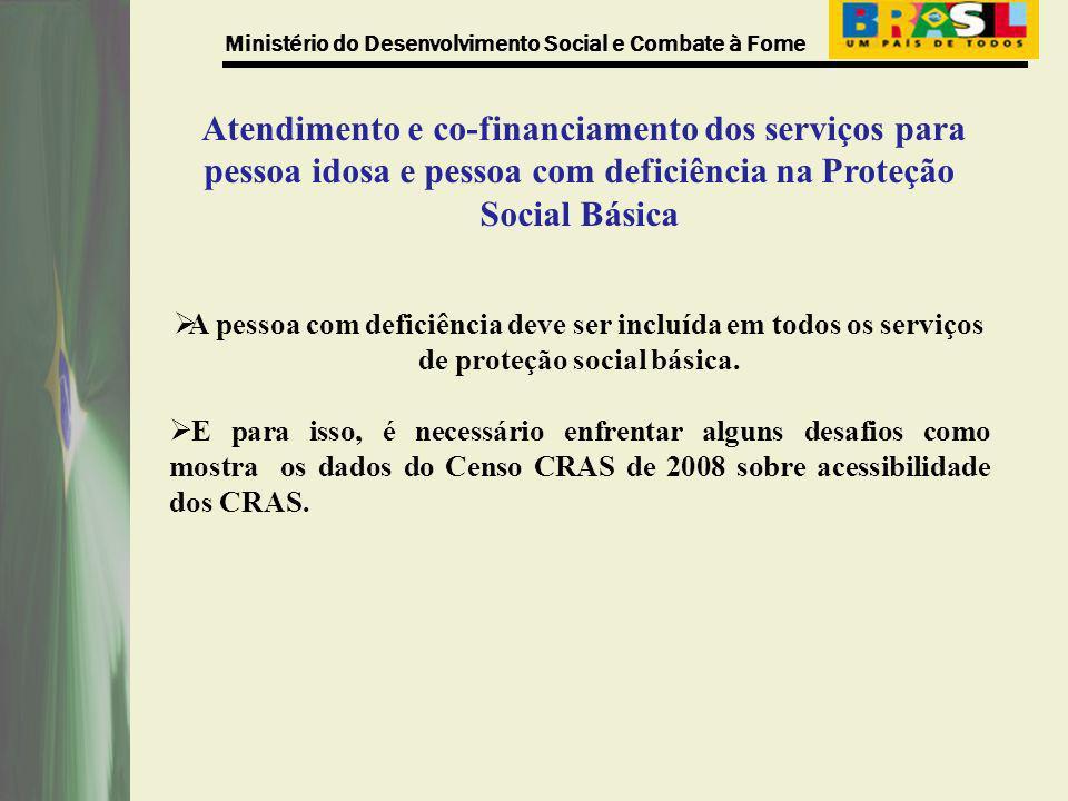 Atendimento e co-financiamento dos serviços para pessoa idosa e pessoa com deficiência na Proteção Social Básica