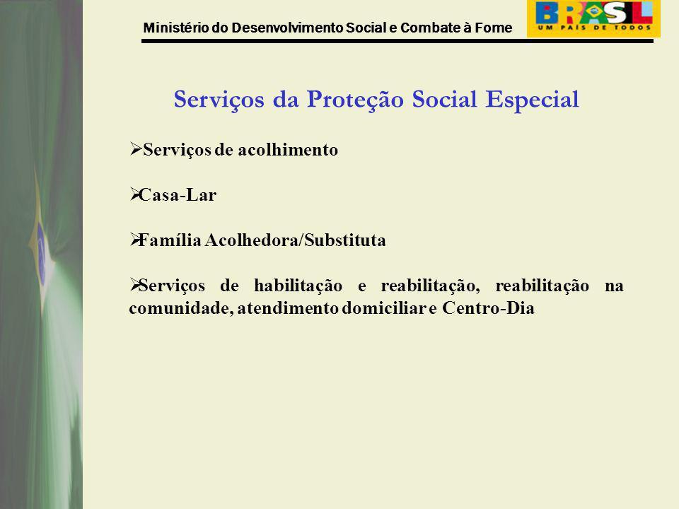 Serviços da Proteção Social Especial