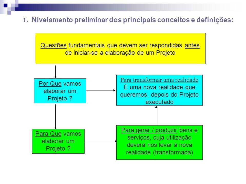 1. Nivelamento preliminar dos principais conceitos e definições: