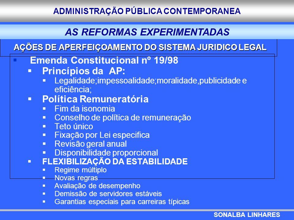 AÇÕES DE APERFEIÇOAMENTO DO SISTEMA JURIDICO LEGAL
