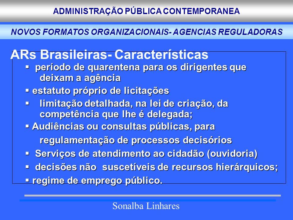 NOVOS FORMATOS ORGANIZACIONAIS- AGENCIAS REGULADORAS