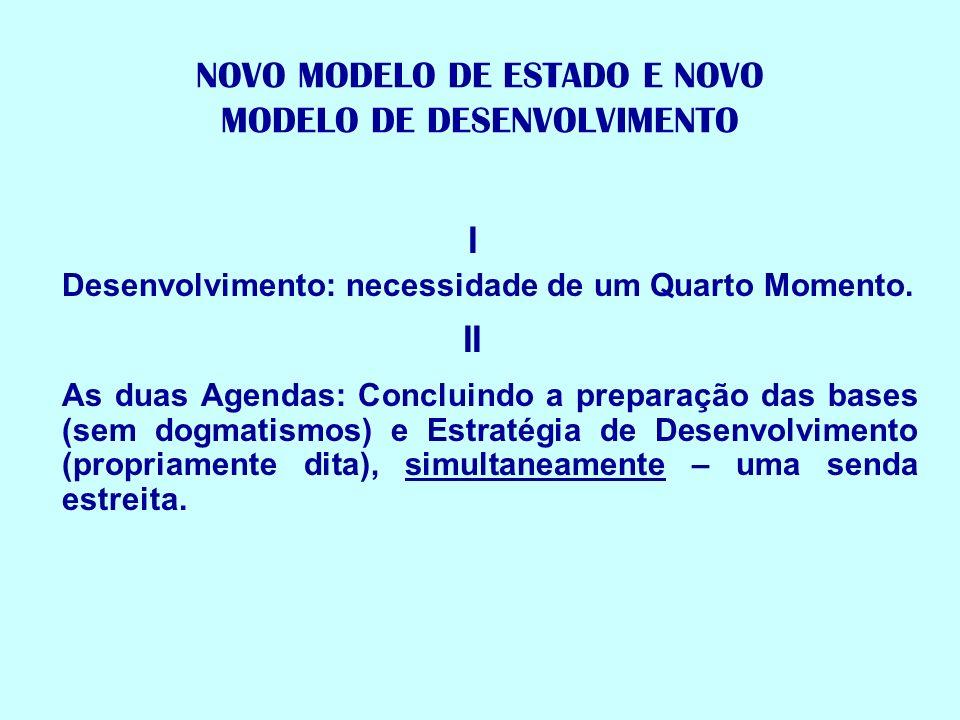NOVO MODELO DE ESTADO E NOVO MODELO DE DESENVOLVIMENTO
