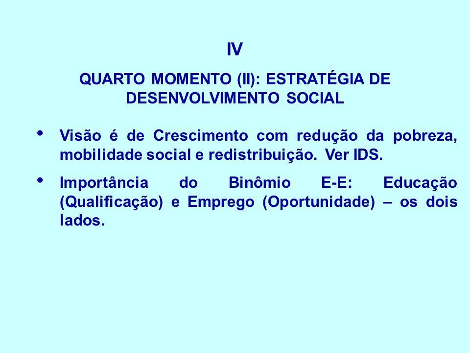 QUARTO MOMENTO (II): ESTRATÉGIA DE DESENVOLVIMENTO SOCIAL