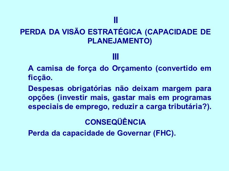PERDA DA VISÃO ESTRATÉGICA (CAPACIDADE DE PLANEJAMENTO)