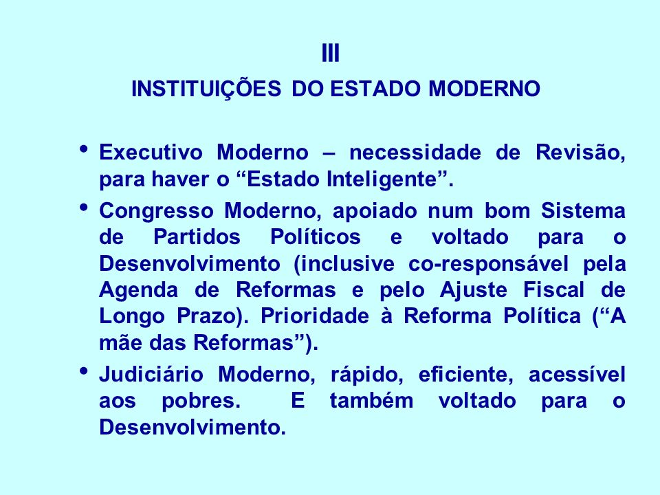 INSTITUIÇÕES DO ESTADO MODERNO
