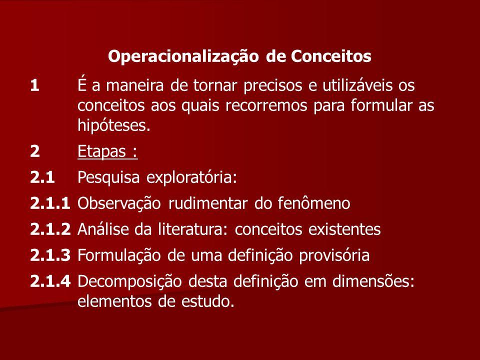 Operacionalização de Conceitos