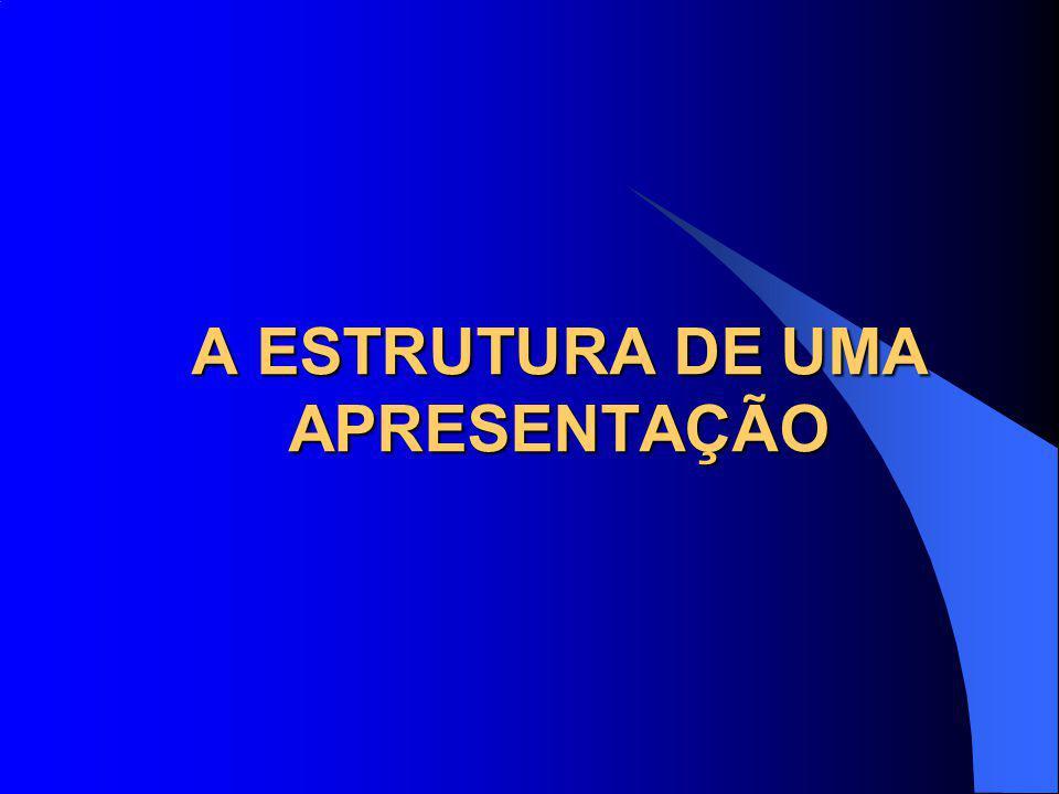 A ESTRUTURA DE UMA APRESENTAÇÃO
