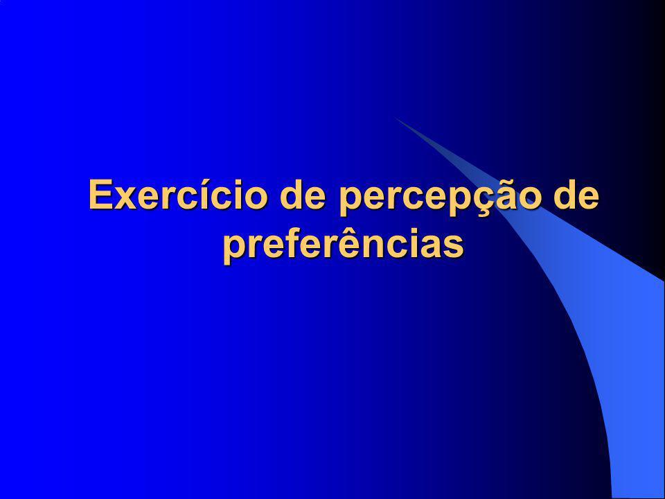 Exercício de percepção de preferências