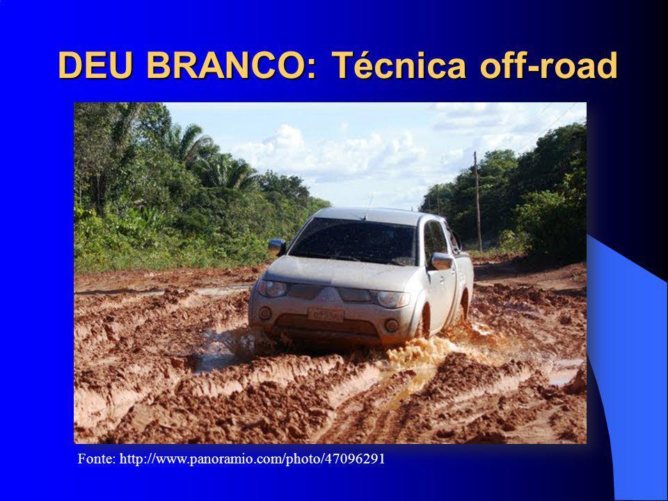 DEU BRANCO: Técnica off-road