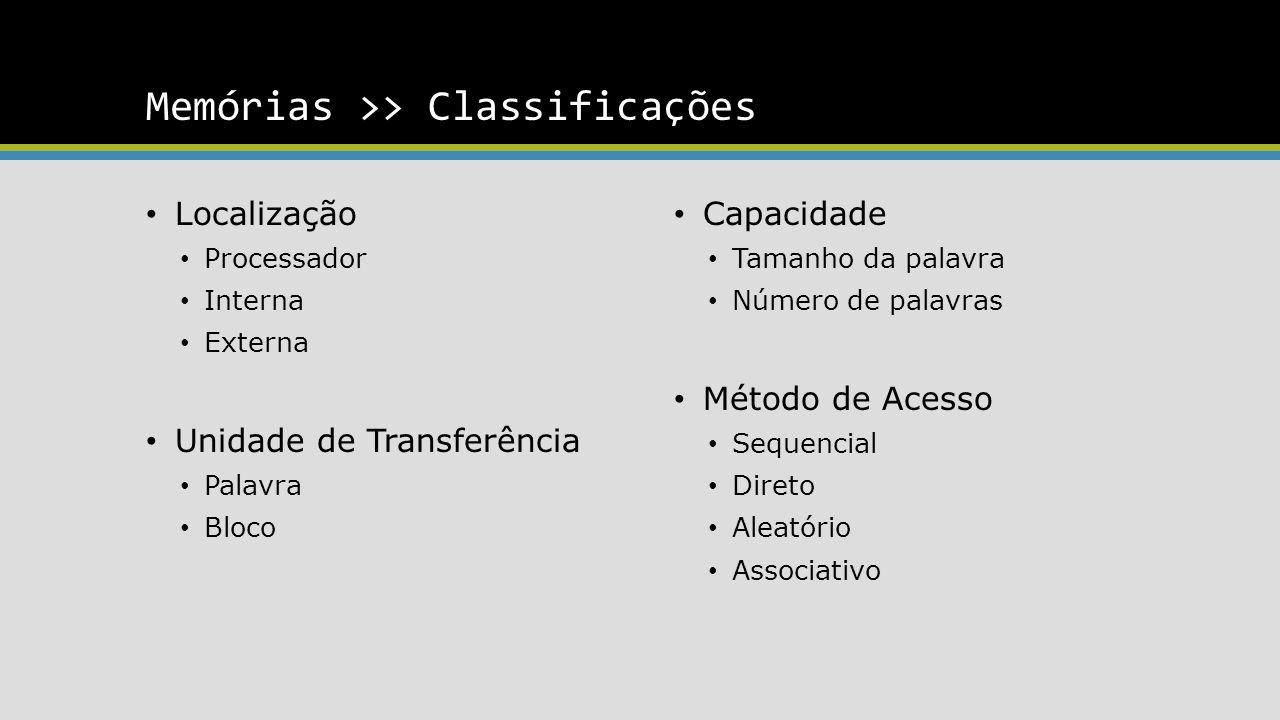 Memórias >> Classificações