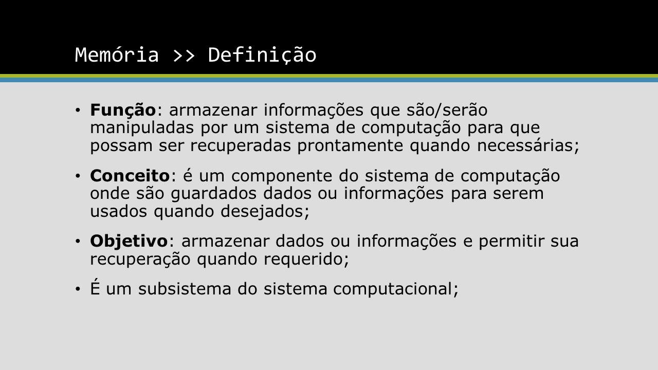 Memória >> Definição