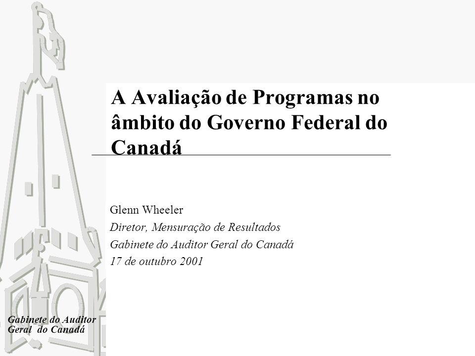 A Avaliação de Programas no âmbito do Governo Federal do Canadá