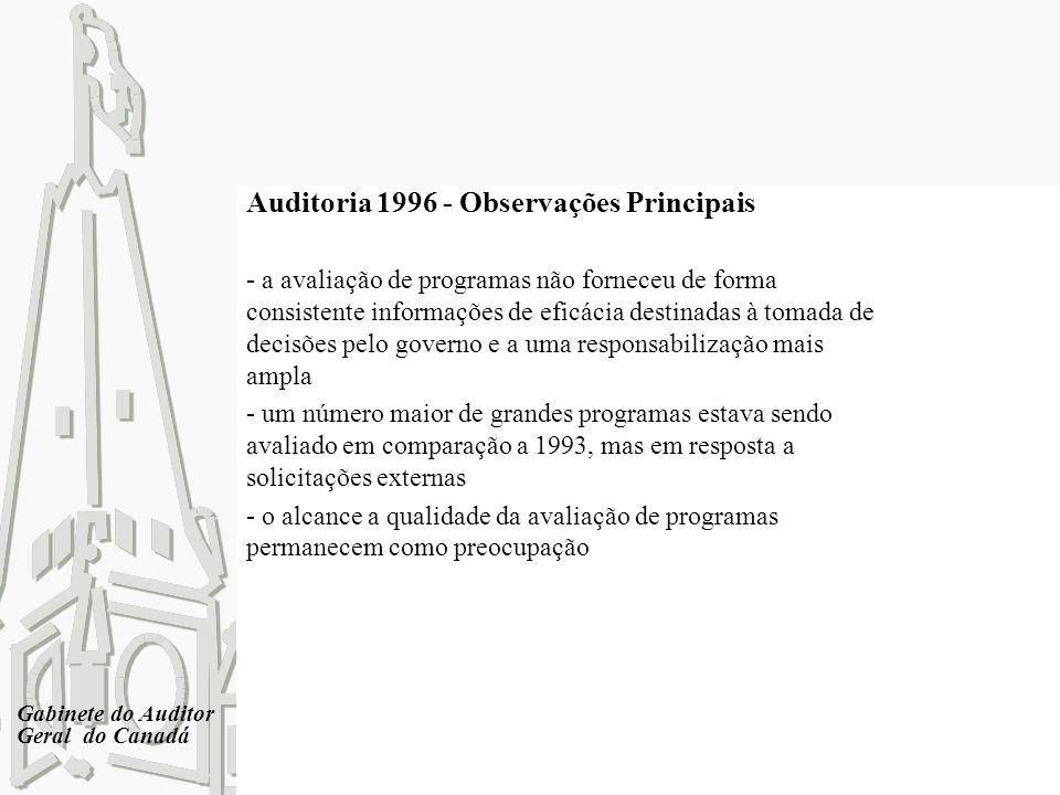 Auditoria 1996 - Observações Principais