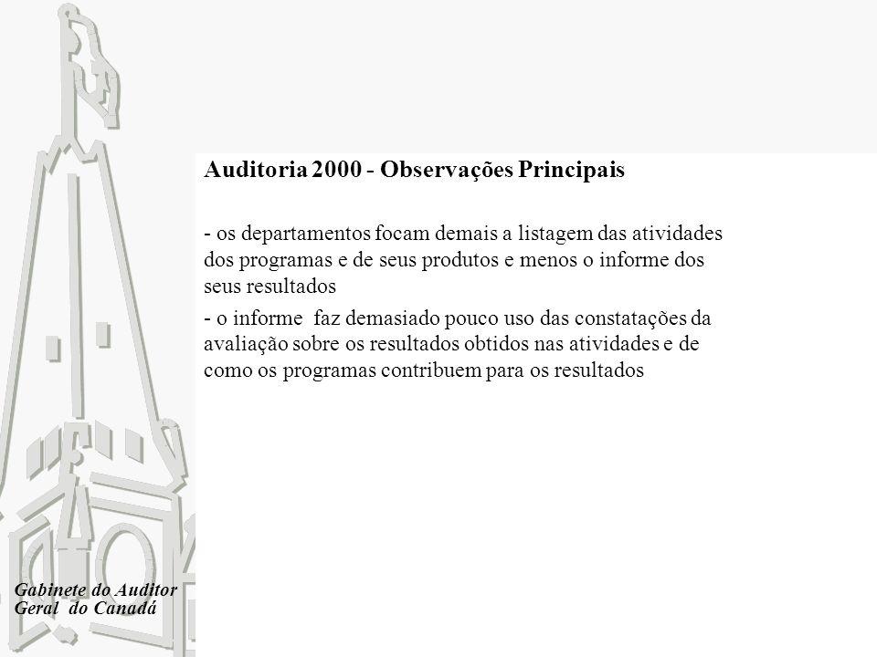 Auditoria 2000 - Observações Principais