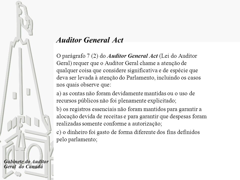 Auditor General Act