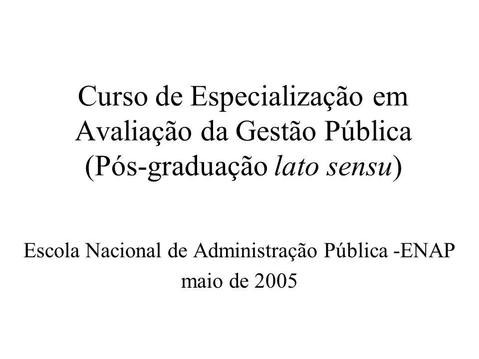 Escola Nacional de Administração Pública -ENAP maio de 2005