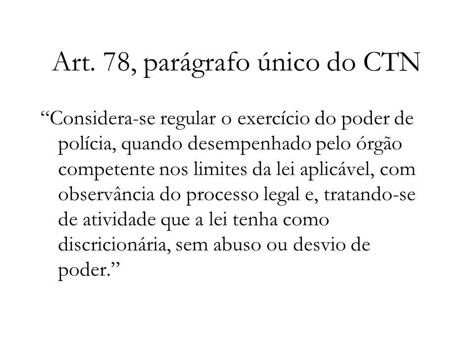 Art. 78, parágrafo único do CTN